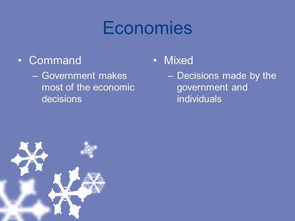 Economies Command Mixed