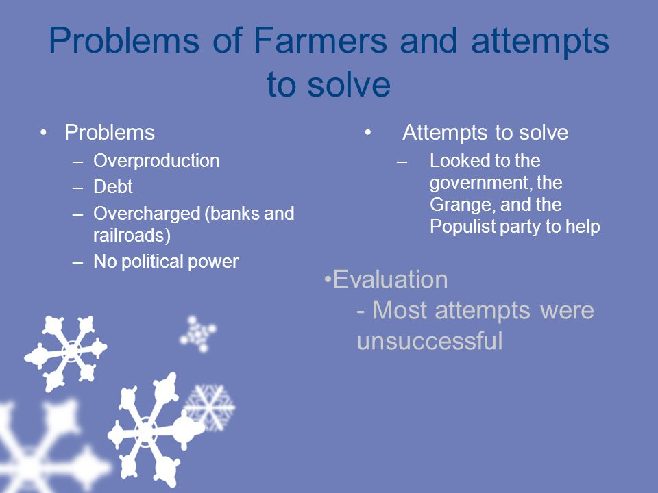 Problems of Farmers and attempts to solve