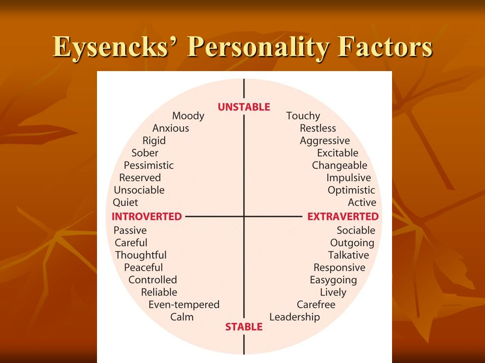 Eysencks' Personality Factors
