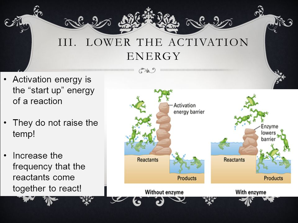 III. Lower the Activation Energy