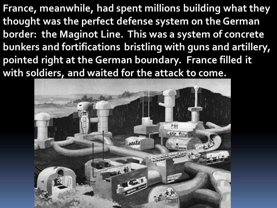 France, meanwhile, had spent millions building what they thought was the perfect defense system on the German border: the Maginot Line.