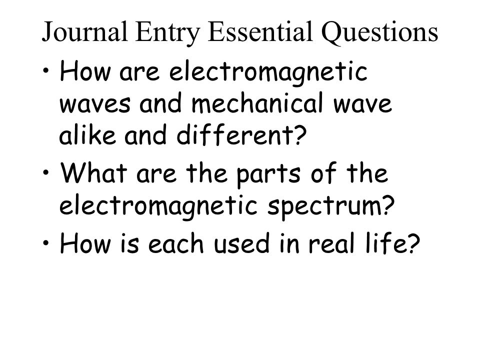 Journal Entry Essential Questions