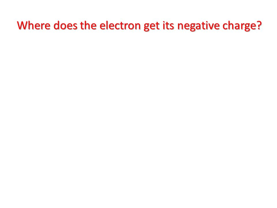 Where does the electron get its negative charge