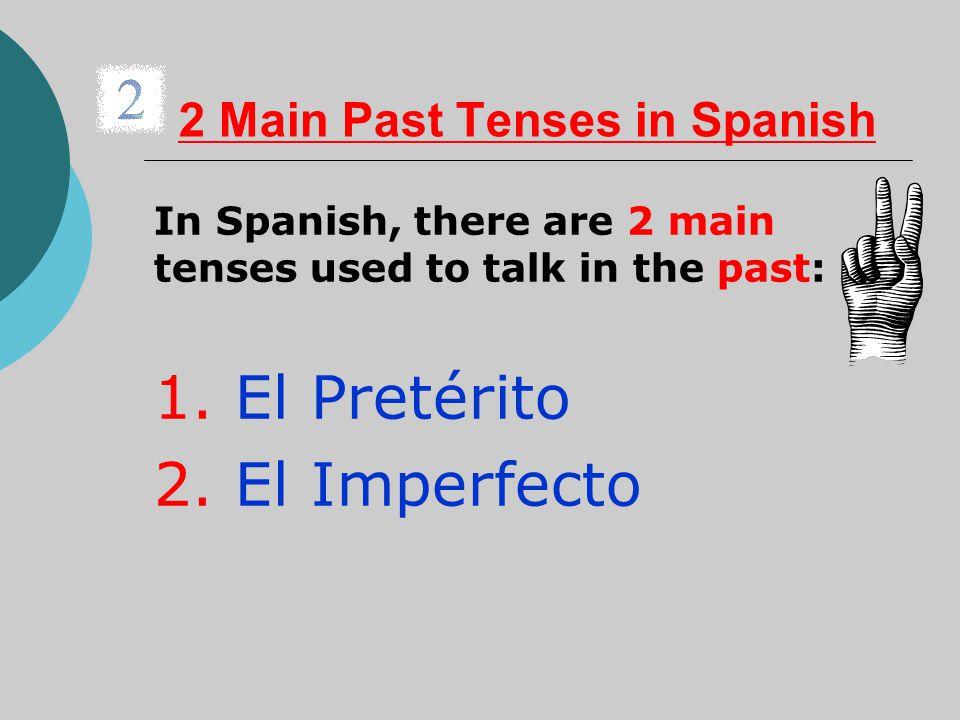 2 Main Past Tenses in Spanish