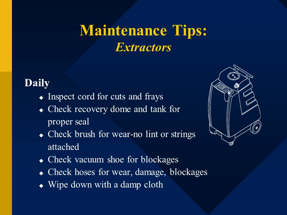 Maintenance Tips: Extractors