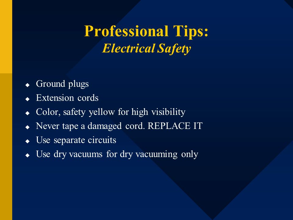Professional Tips: Electrical Safety
