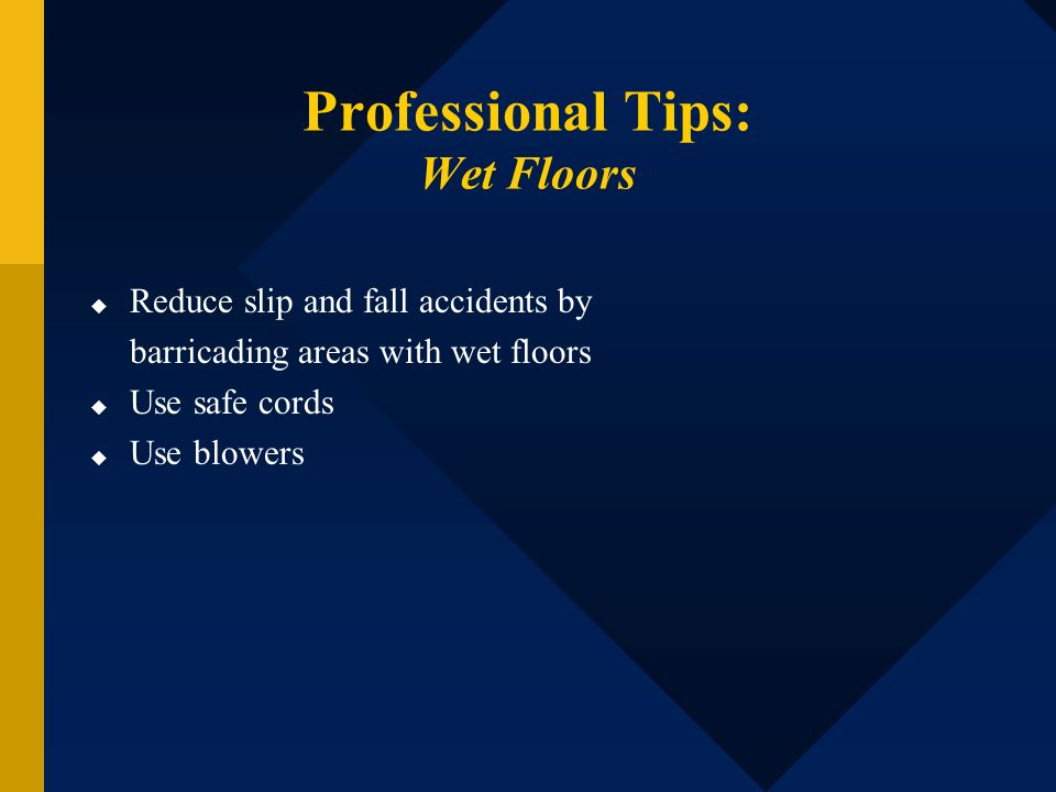 Professional Tips: Wet Floors
