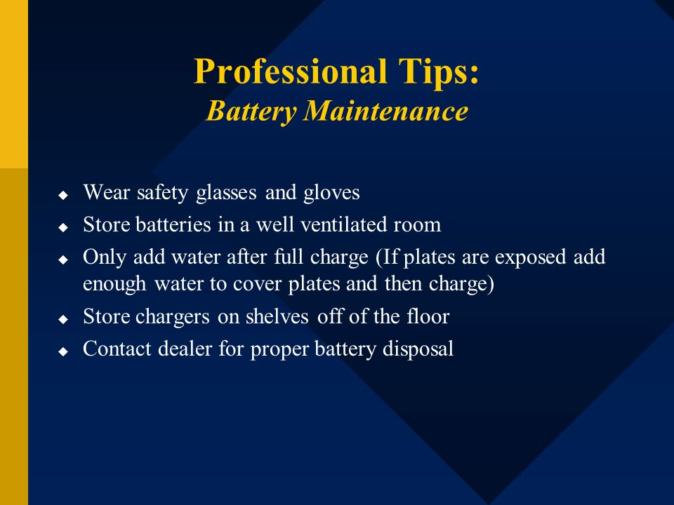 Professional Tips: Battery Maintenance