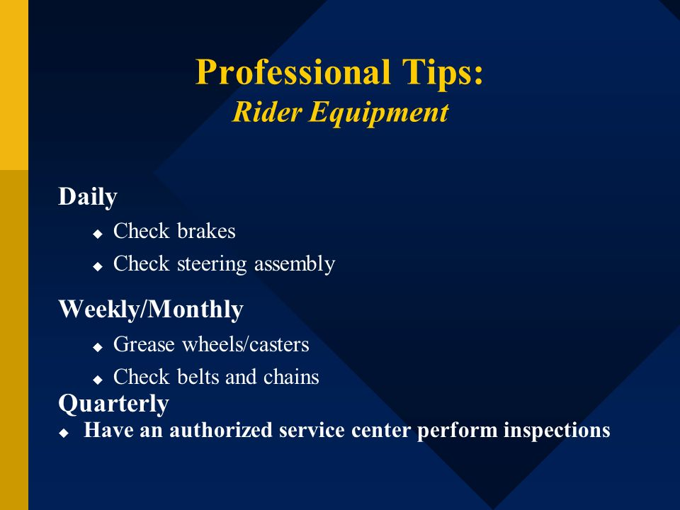 Professional Tips: Rider Equipment