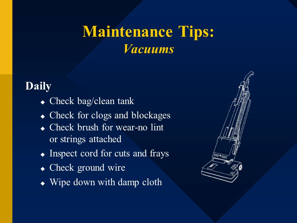 Maintenance Tips: Vacuums