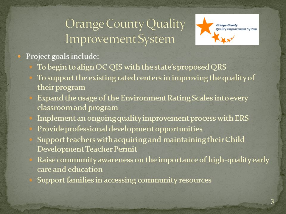 Orange County Quality Improvement System