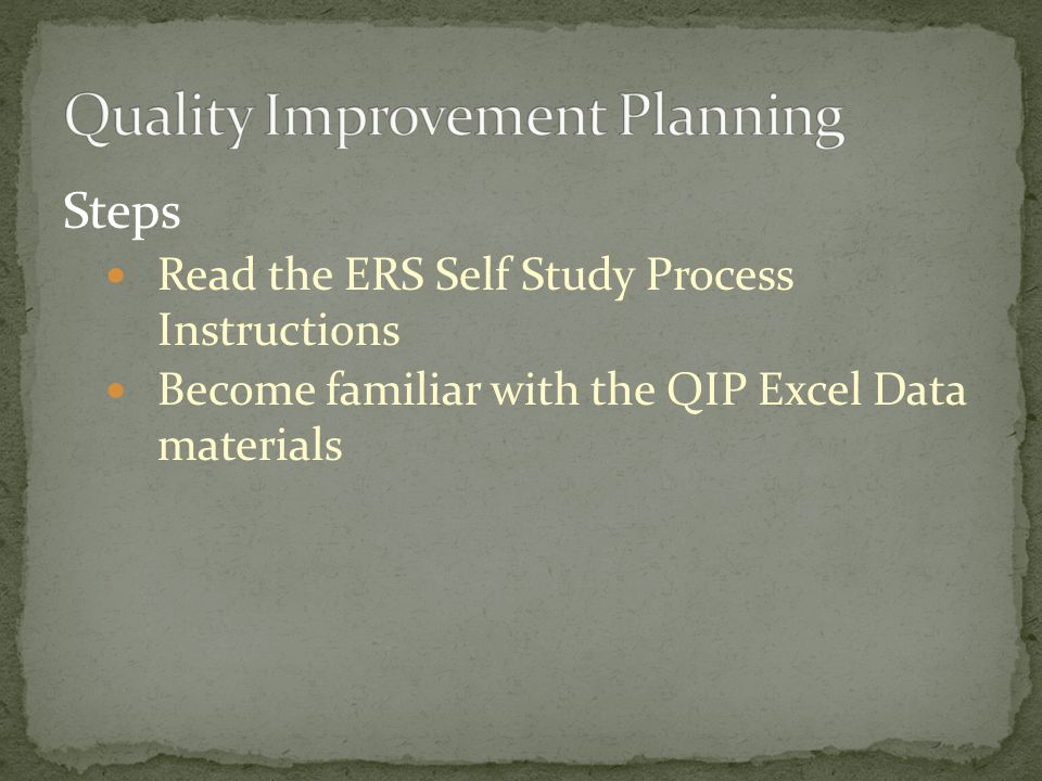 Quality Improvement Planning