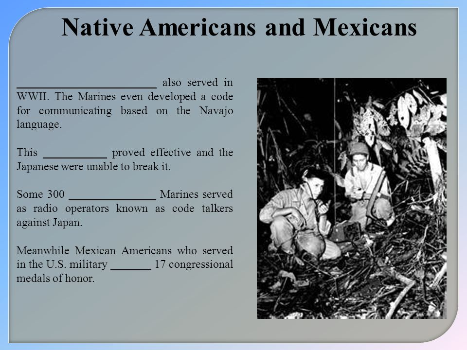 Native Americans and Mexicans