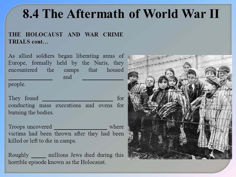 8.4 The Aftermath of World War II