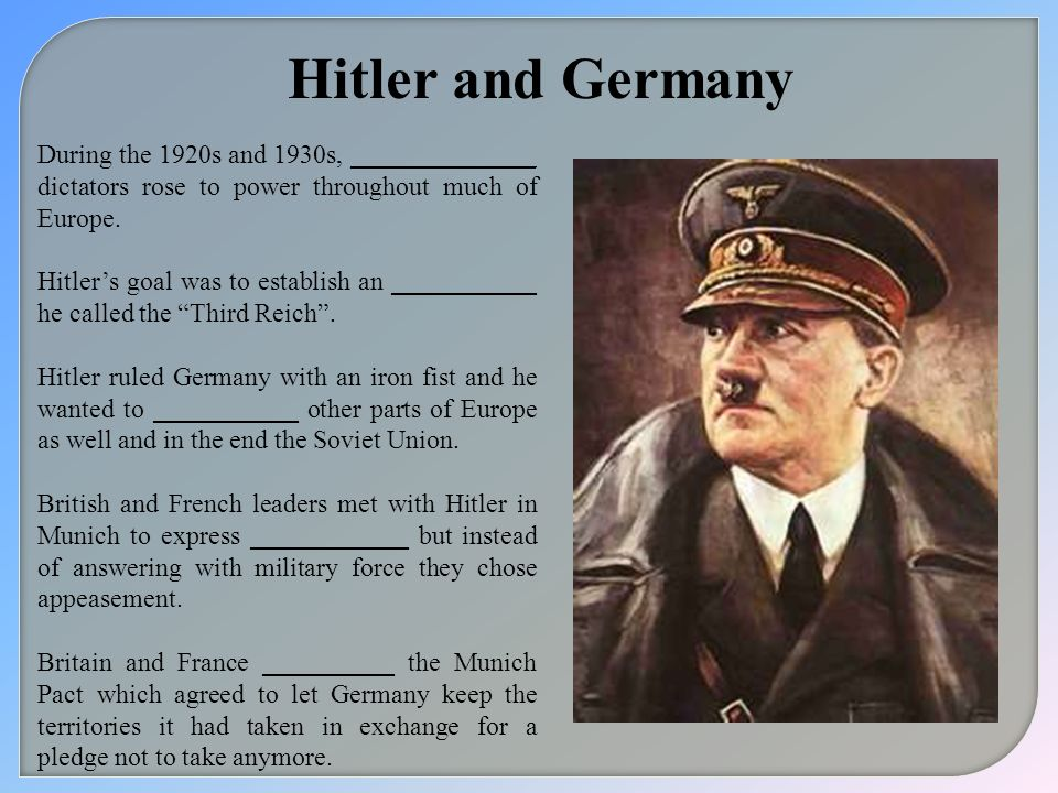 Hitler and Germany During the 1920s and 1930s, ______________ dictators rose to power throughout much of Europe.