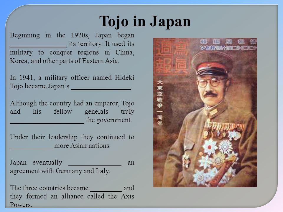 Tojo in Japan