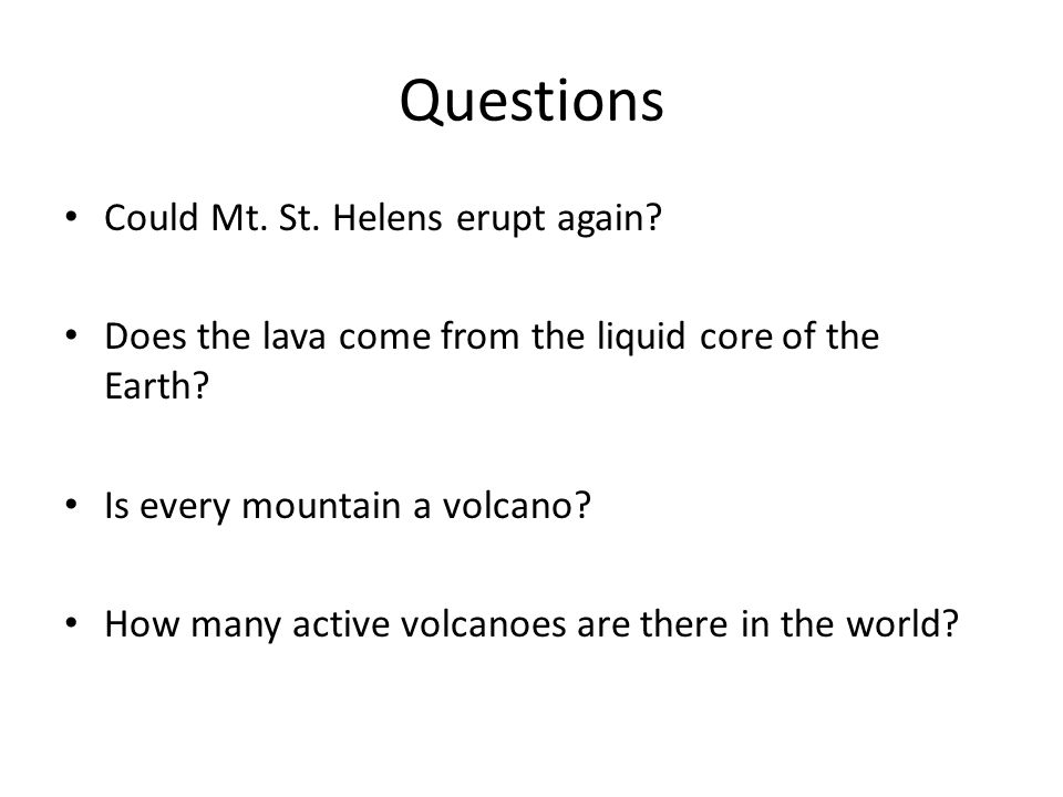 Volcano Hw and RQ. - ppt download