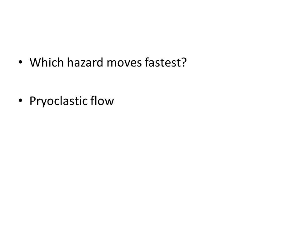 Which hazard moves fastest