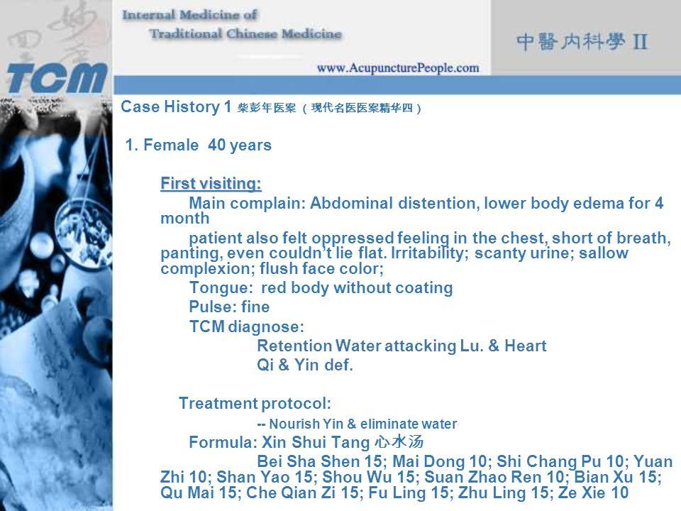 Case History 1 柴彭年医案 (现代名医医案精华四)