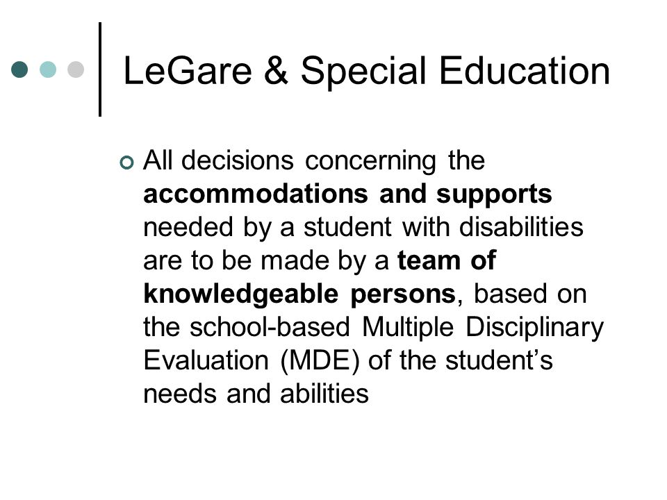 LeGare & Special Education