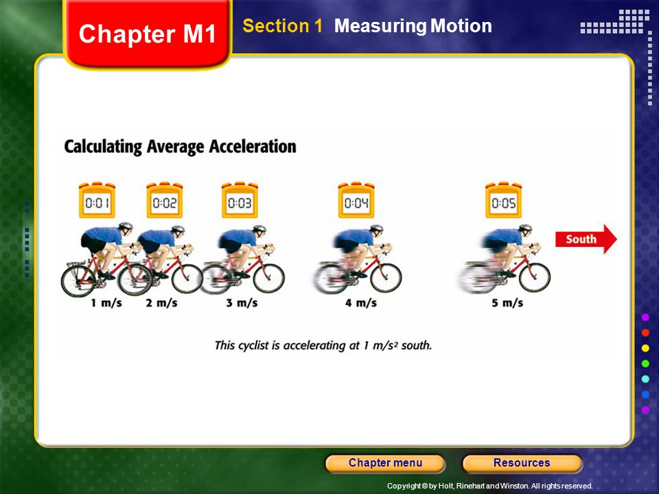 Chapter M1 Section 1 Measuring Motion
