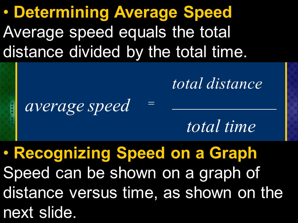 average speed total time