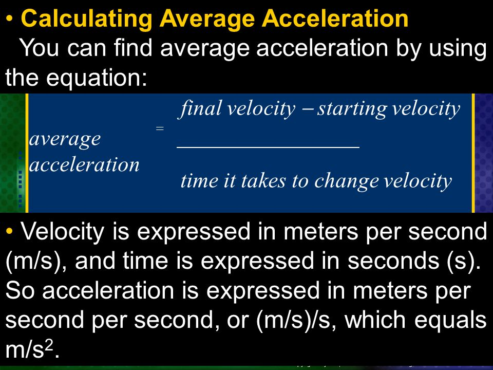 Calculating Average Acceleration