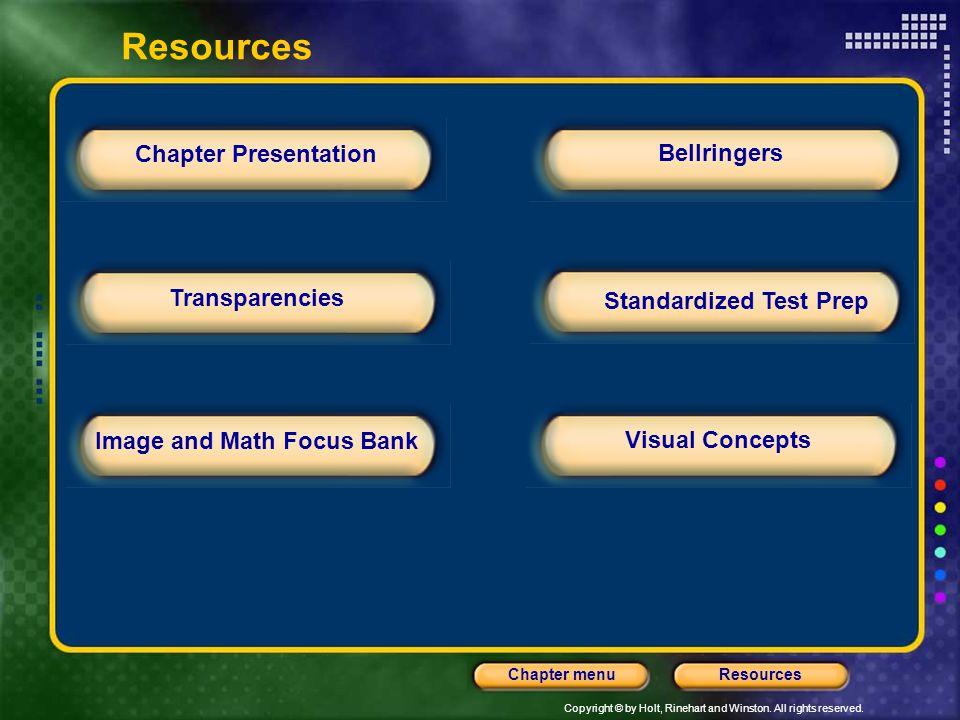 Standardized Test Prep Image and Math Focus Bank