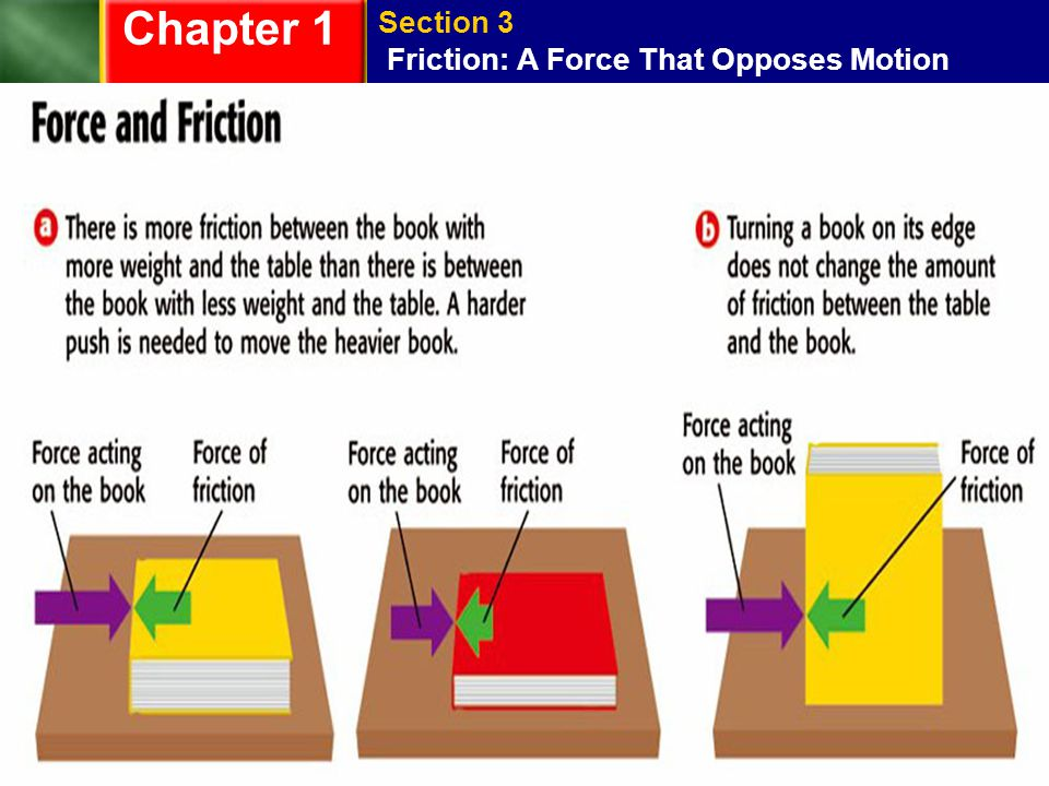 Chapter 1 Section 3 Friction: A Force That Opposes Motion