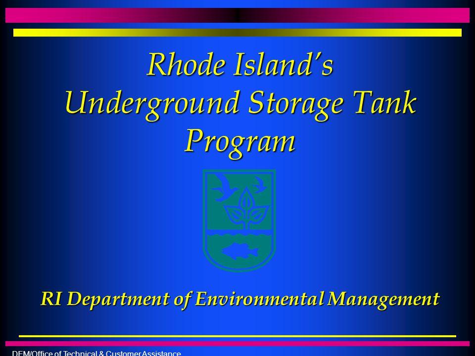 Rhode Island's Underground Storage Tank Program