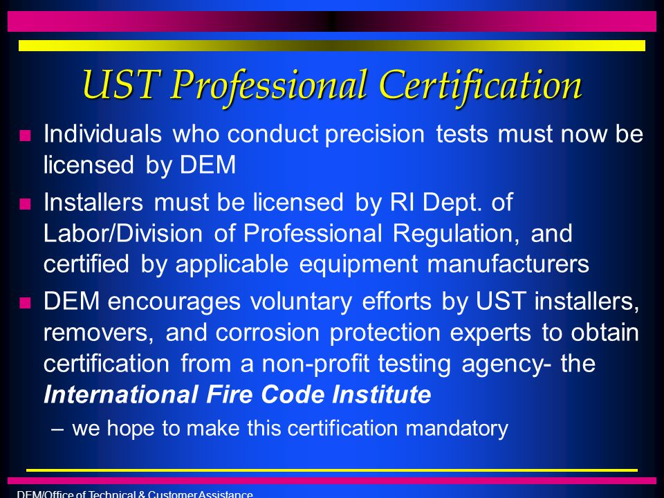 UST Professional Certification