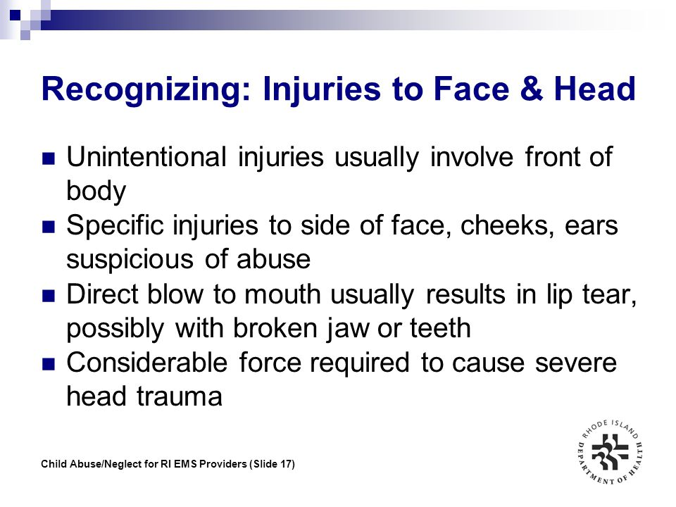 Recognizing: Injuries to Face & Head