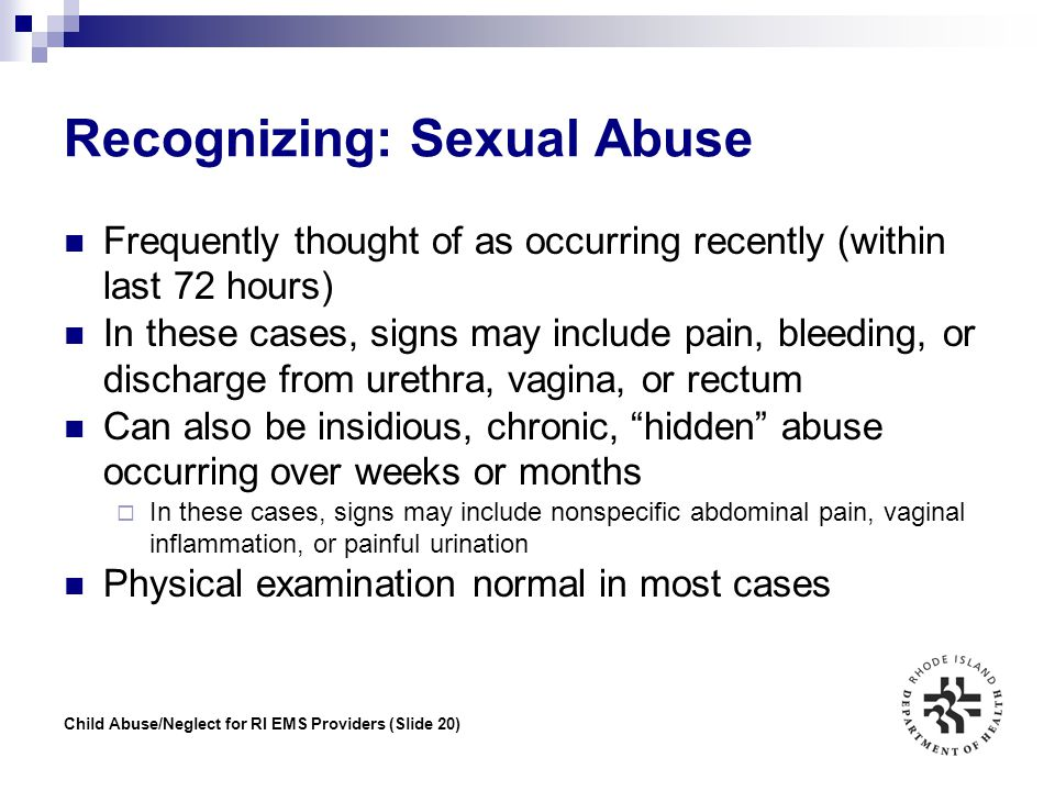 Recognizing: Sexual Abuse