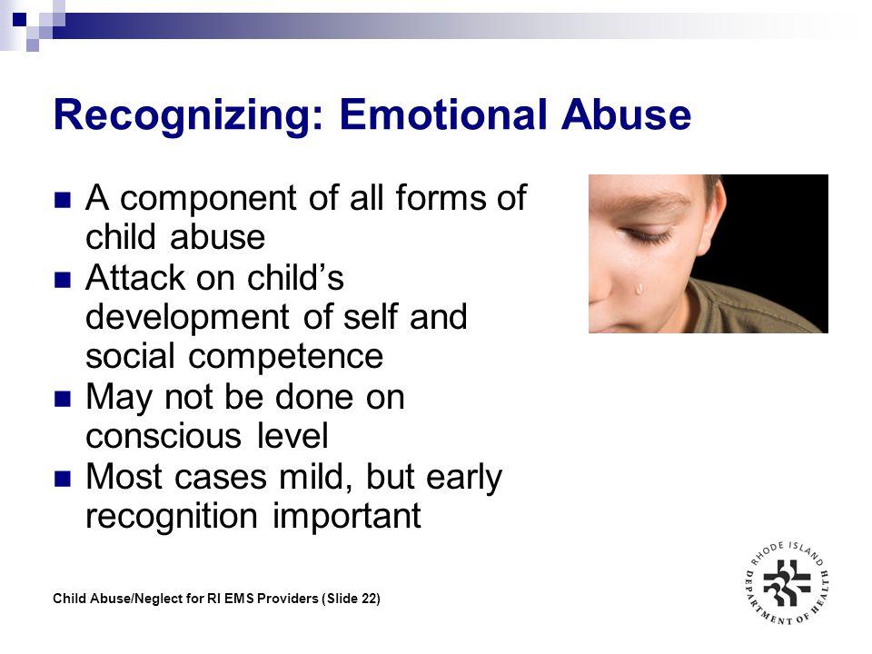 Recognizing: Emotional Abuse