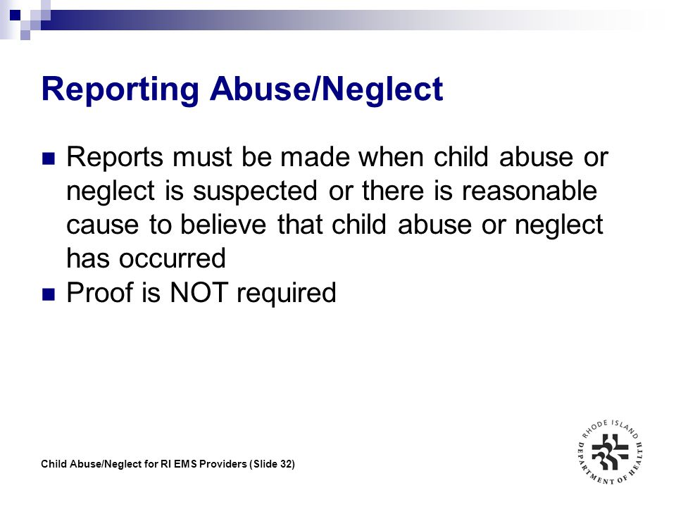 Reporting Abuse/Neglect