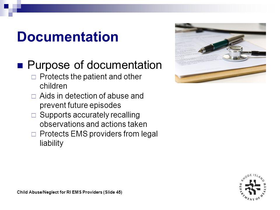 Documentation Purpose of documentation