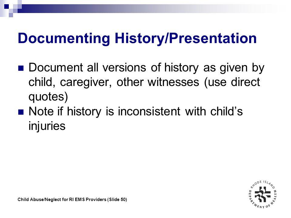 Documenting History/Presentation