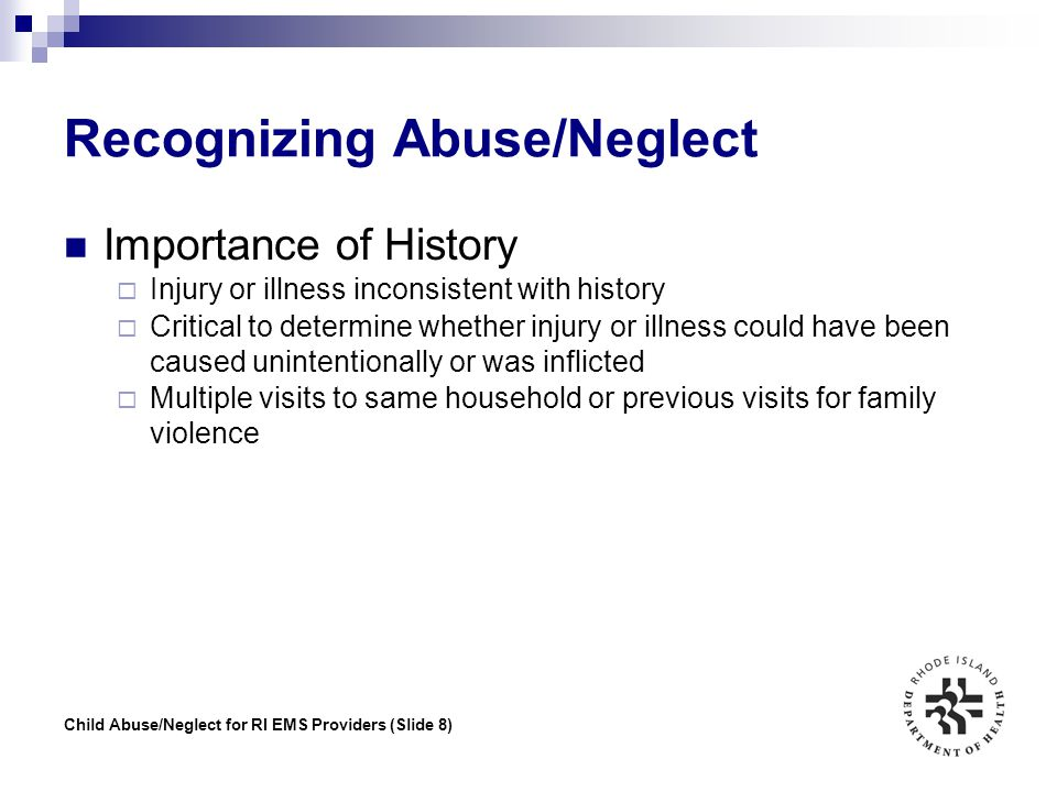 Recognizing Abuse/Neglect