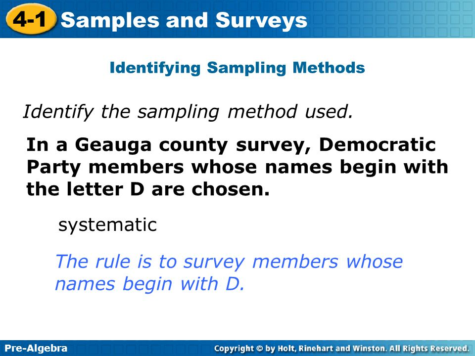 identifying sampling techniques Urban geography sampling techniques and methods  the problem is  identifying in advance what the strata (such as age divisions) should be adapted  from.