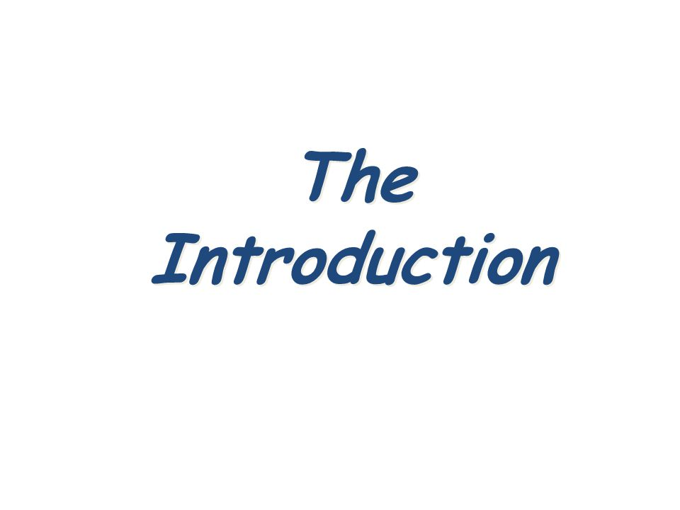 The Introduction 18