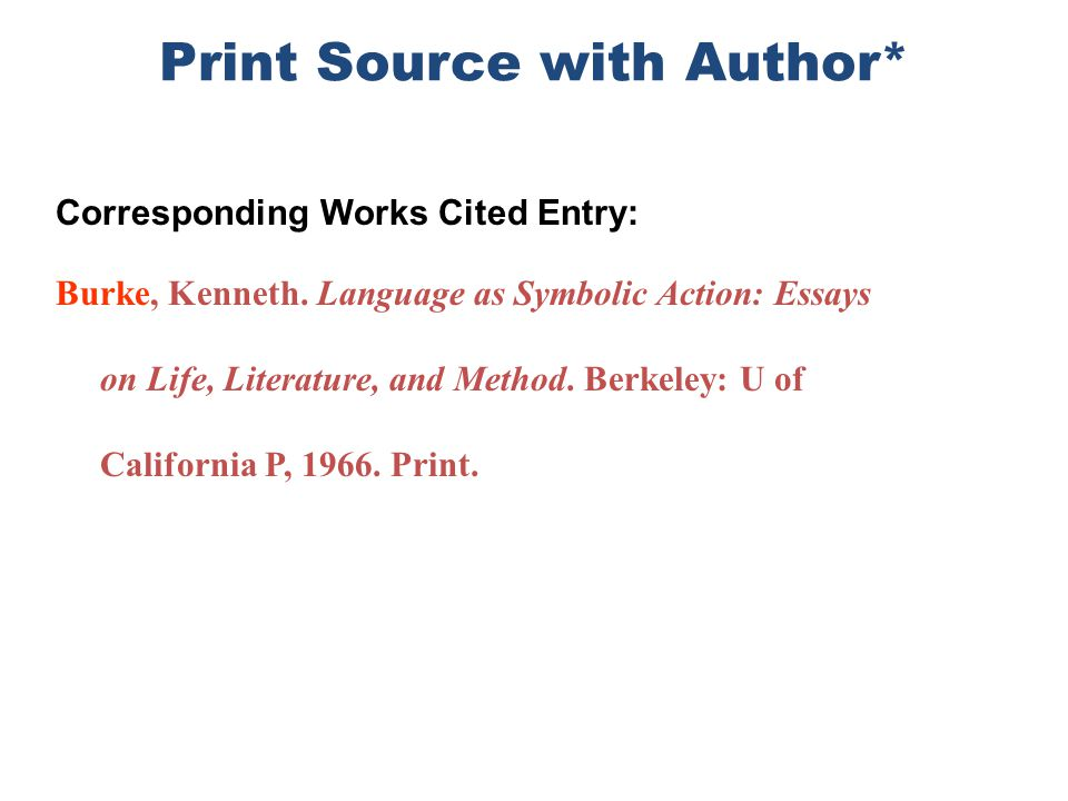 Print Source with Author*