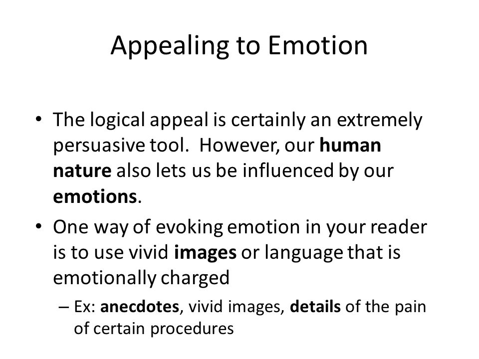 Appealing to Emotion