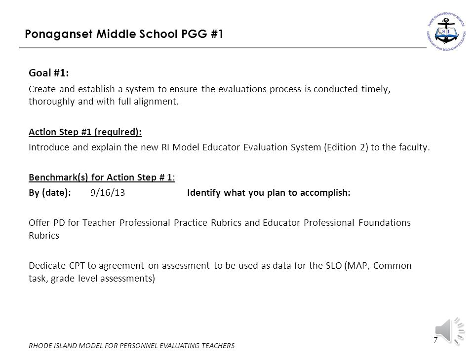 Ponaganset Middle School PGG #1