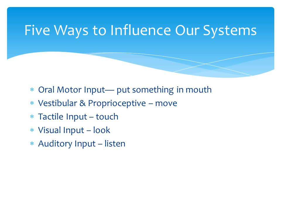 Five Ways to Influence Our Systems