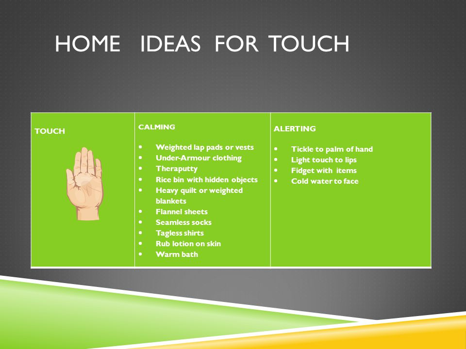 Home ideas for touch TOUCH Weighted lap pads or vests