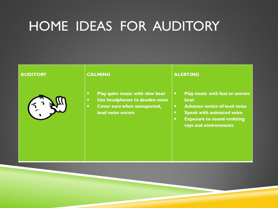 home ideas for auditory