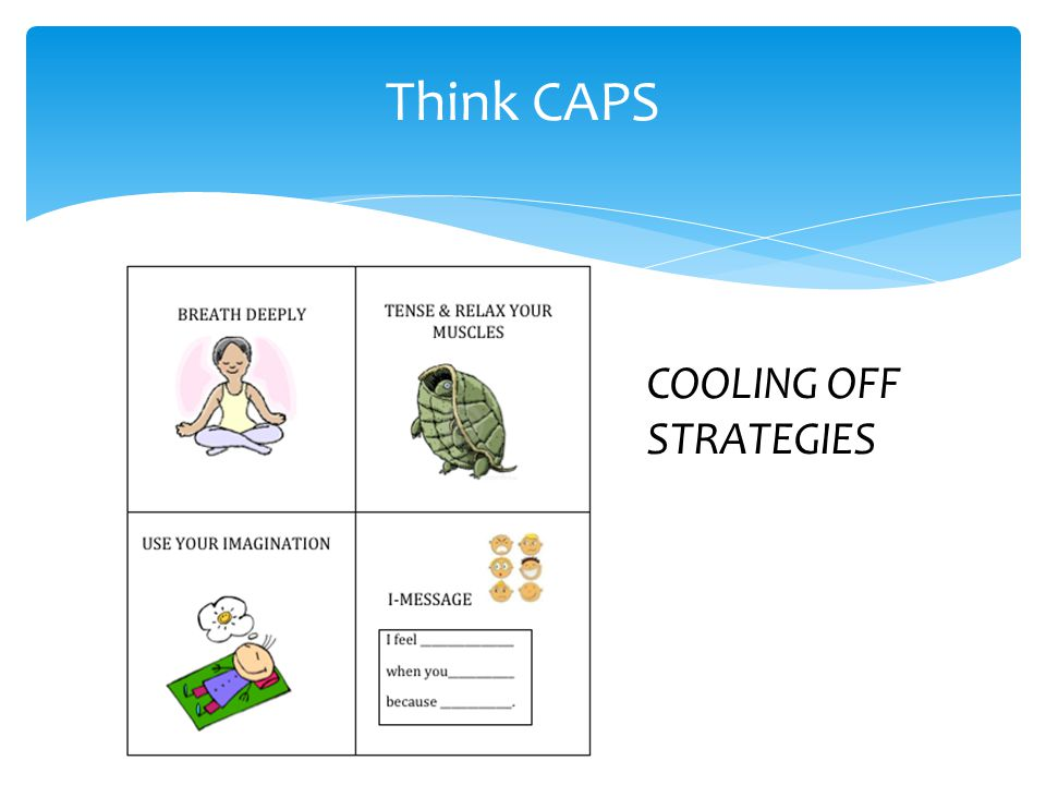 Think CAPS COOLING OFF STRATEGIES