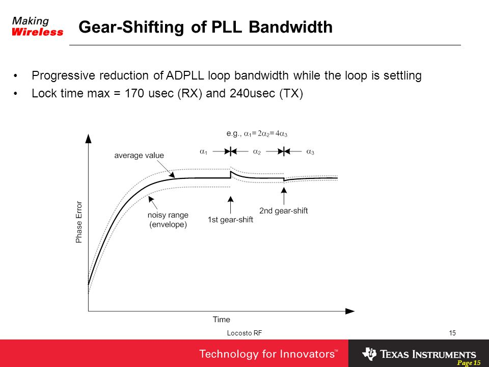 Gear-Shifting of PLL Bandwidth