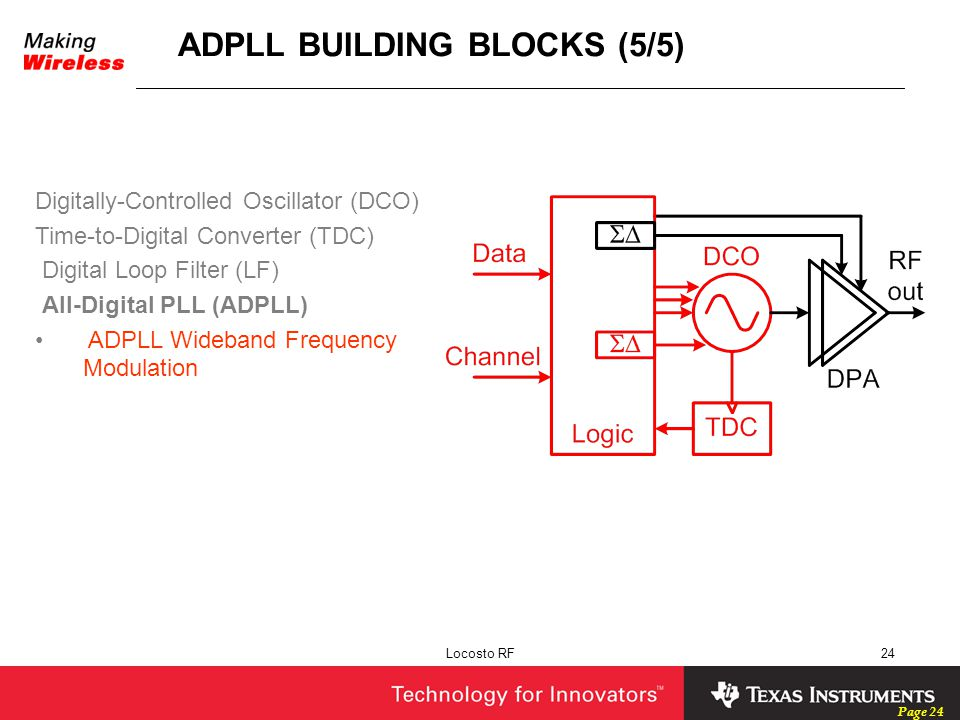 ADPLL BUILDING BLOCKS (5/5)