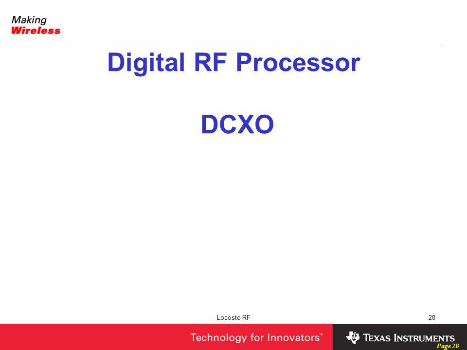 Digital RF Processor DCXO